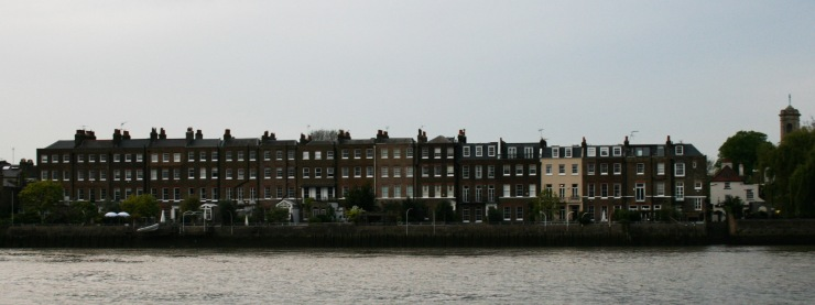 Hammersmith Terrace, seen from the Thames
