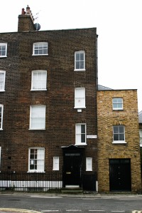 Victor Pasmore's house at 16 Hammersmith Terrace