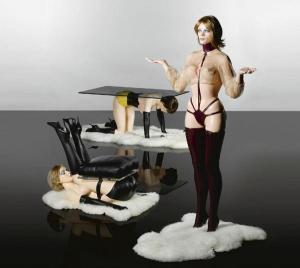 Hatstand, table and chair by Allen Jones