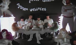 The Milk Bar scene with furniture inspired by Allen Jones