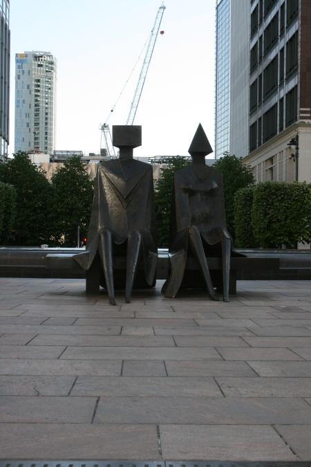 'Couple On Seat' (1984 - Steel) by Lynn Chadwick